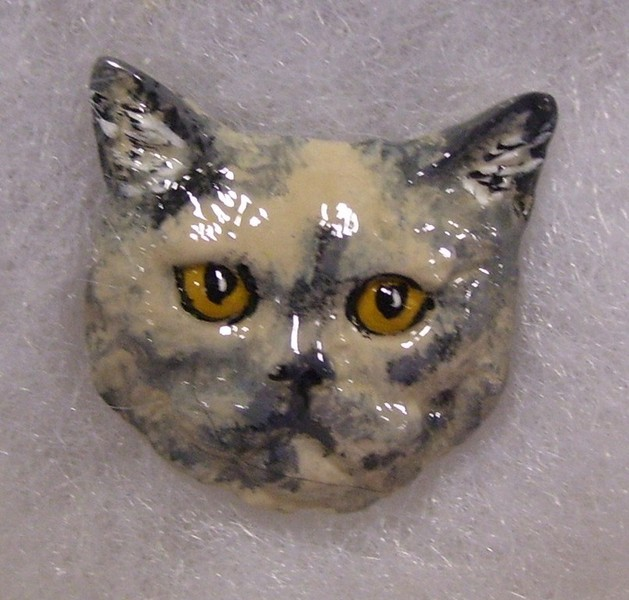 Nice More Hand Painted Pewter Cats