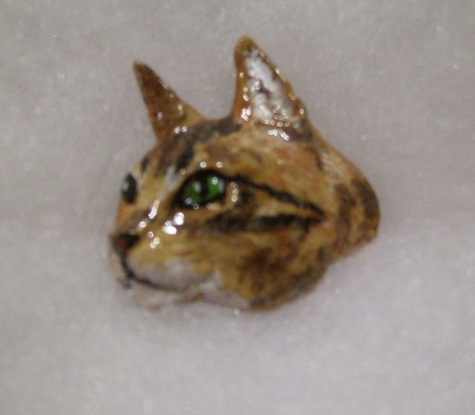 Perfect More Hand Painted Pewter Cats