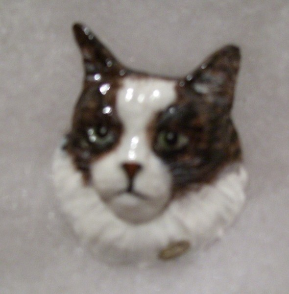 More Hand Painted Pewter Cats